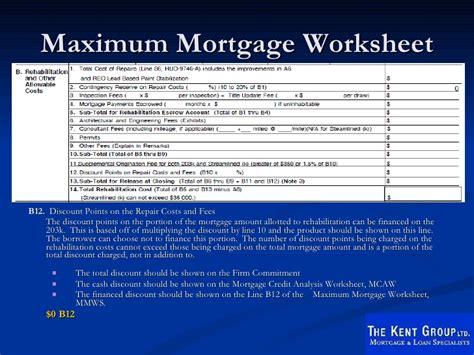 Fha Max Loan Amount Worksheet by Fha 203k Rehab Seminar