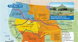 map of oregon trail 1850 trails west www westward expansion