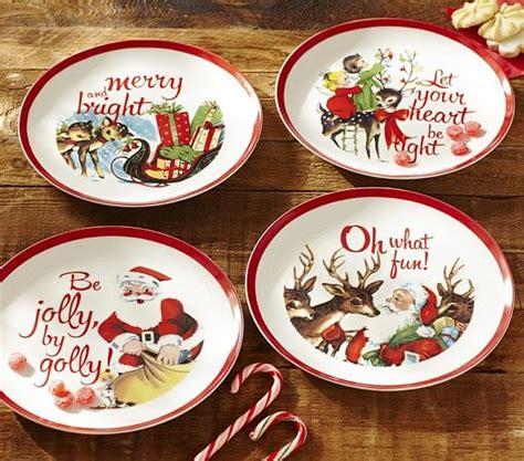 love retro holiday prints  banded dinnerware