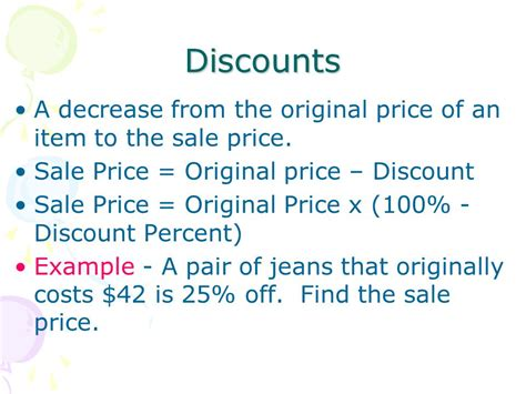 Discounts And Sle Sales by Lesson 7 6 Obj To Find Markups Discounts Sales Tax And