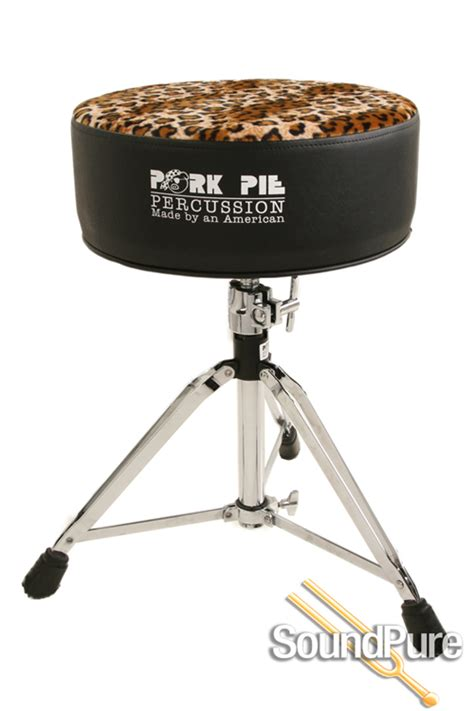 Pork Pie Drum Stool by Pork Pie Percussion Vinyl Drum Throne Black Leopard Seat Ebay