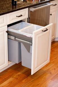 Kitchen Cabinet Trash Can Pull Out 29 Sneaky Ways To Hide A Trash Can In Your Kitchen Digsdigs