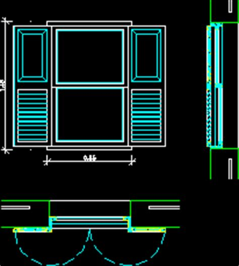 window dwg plan  autocad designs cad