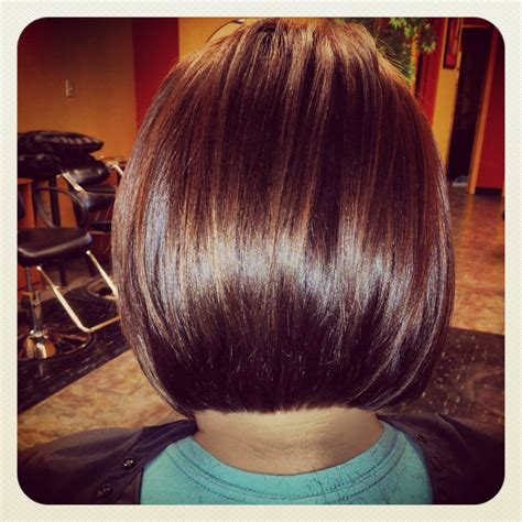 what does the back of a short bob haircut look like back of one of my stacked bob haircuts angled bob