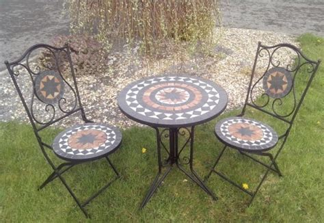 Mosaic Patio Table And Chairs Kingfisher Mosaic Patio Table 2 Chairs