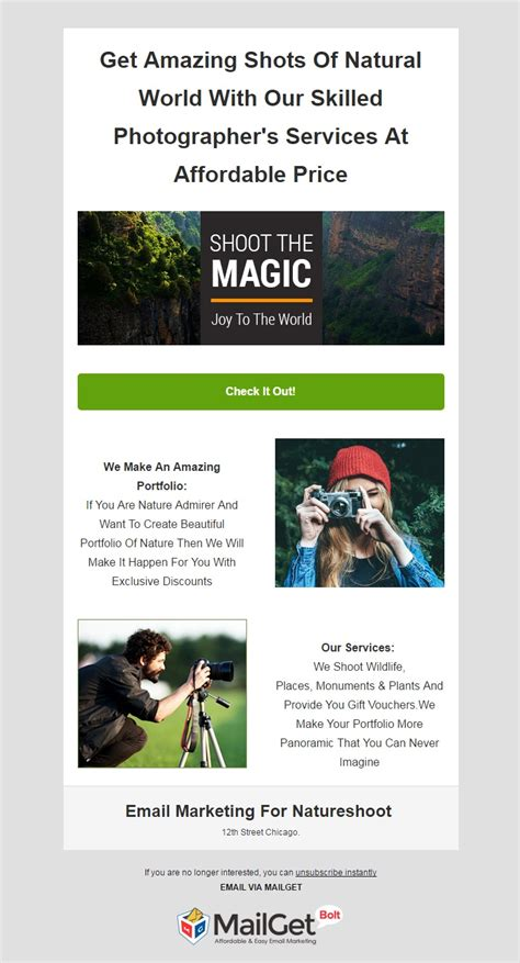 9 Best Photographer Email Templates For Photography Studios Mailget Photographer Email Templates