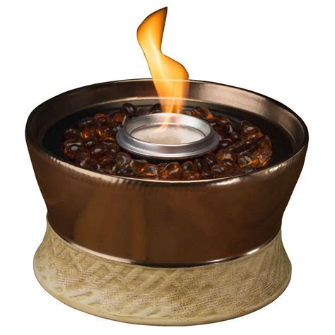 Small Firepit Tiki Clean Burn Small Bronze Tabletop Pit 1114152 The Home Depot