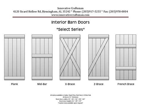 Technical Information Innovative Craftsman Barn Door Sizes