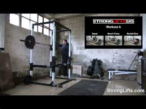 strong lift bench press stronglifts 5x5 workout b full video official youtube