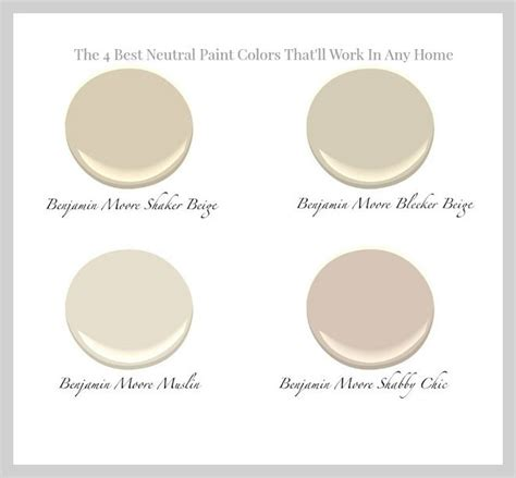 the 4 best neutral paint colors that will work in any home benjamin shake home