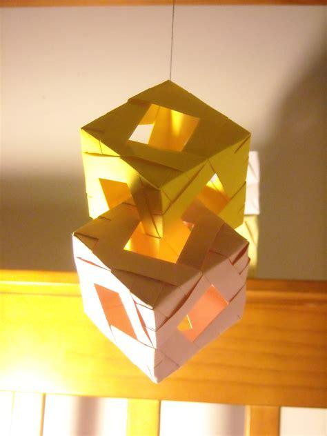 Modular Origami Cube - origami archaicfair modular origami cubes modular origami