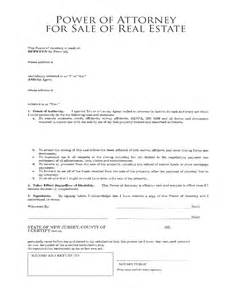 Sle Letter For Power Of Attorney by Real Estate Power Of Attorney Form 7 Free Templates In Pdf Word Excel