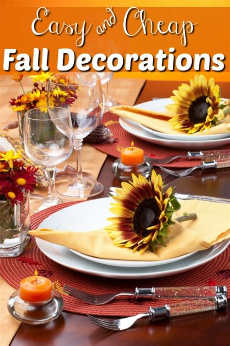 cheap fall decorations fall decorating ideas easy and cheap fall decorations