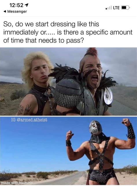 coronavrius memes  madmax costumes