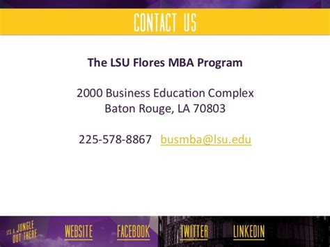Https Business Lsu Edu Flores Mba Pages Flores Mba Program Aspx by Lsu Flores Mba Executive Mba Program