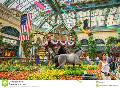 bellagio hotel  casino indoor garden editorial