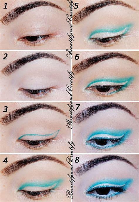 winged eyeliner tutorial asian gorgeous blue winged eye makeup tutorial night asian