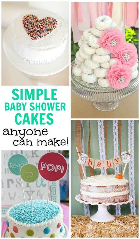 Easy Baby Shower Ideas by Best 25 Simple Baby Shower Cakes Ideas On