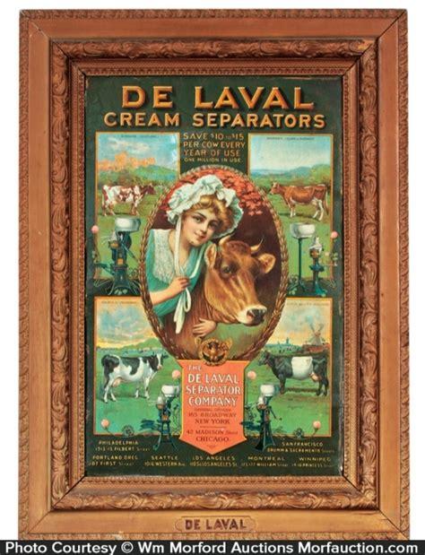 antique advertising de laval green sign antique