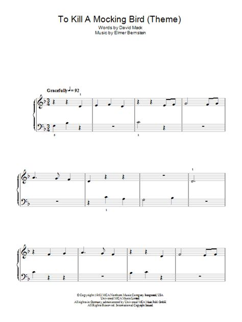 to kill a mockingbird theme song lyrics to kill a mockingbird sheet music direct