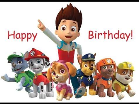 Free Paw Patrol Happy Birthday Card paw patrol happy birthday song and friends
