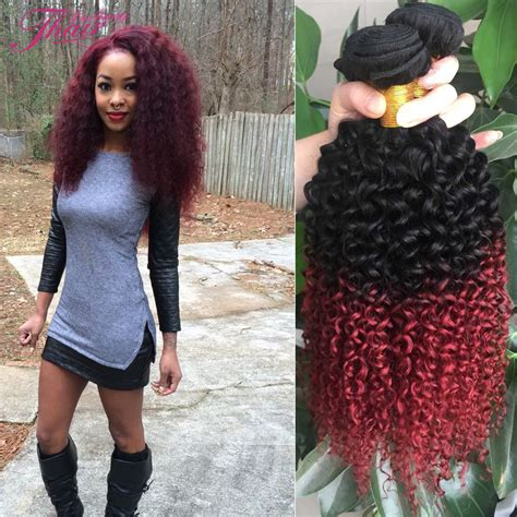 red sew in hairstyles red ombre sew in www pixshark com images galleries