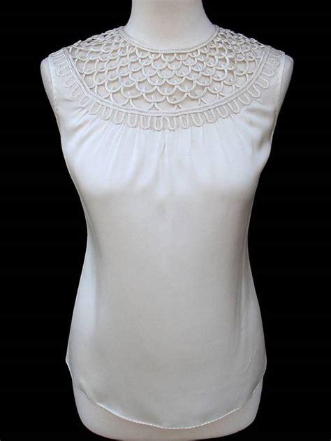 Jny Co Sweater Banana Sweet Opika elie tahari ivory silk loop detail sivan blouse top