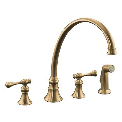 brushed bronze kitchen faucet kohler karbon single handle kitchen faucet in vibrant