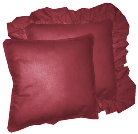 Solid Dark Wine Burgundy Colored Accent Pillow with