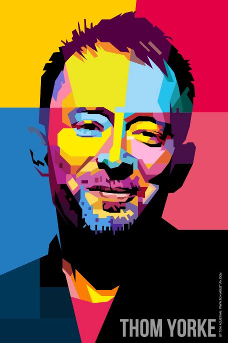 Thom Yorke Radiohead In Wpap thom yorke smiling a1 size poster