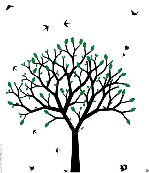 Arbre Stickers Chambre Bébé 5309 by Sticker Mural Arbre Graphique Arbre Au Printemps Design