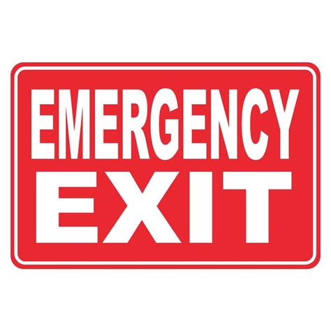 Kitchen Garden Window Ideas by Rectangular Plastic Emergency Exit Sign Pse 0090 The