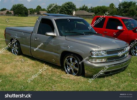 newer model chevrolet lowrider truck stock photo 4616992