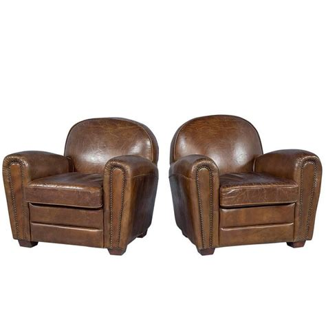 distressed brown leather armchair pair of distressed brown leather art deco club chairs at
