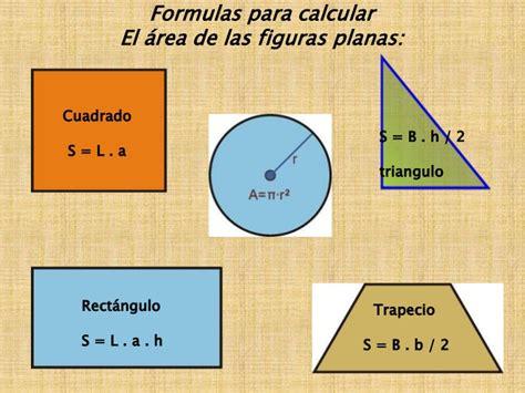 figuras geometricas formulas de superficie presentaci 243 n sobre 225 reas de superficies planas y volumen