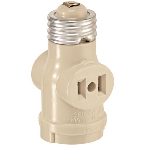 leviton 1403i single light socket 2 outlet adapter