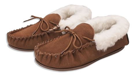 moccasin slippers nordvek genuine suede moccasin slippers sheepskin