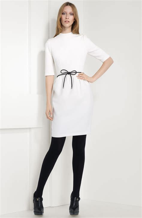 black white dress with tights mara modest clothing giveaway thread ethic modest fashion