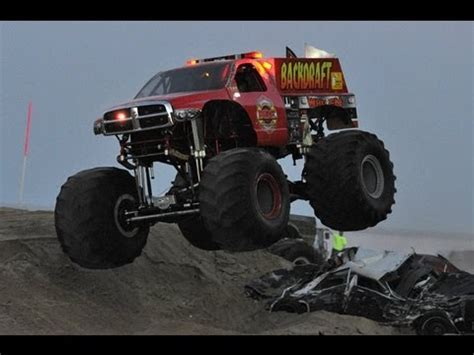 monster truck crash videos youtube backdraft monster truck crashes new paint job youtube