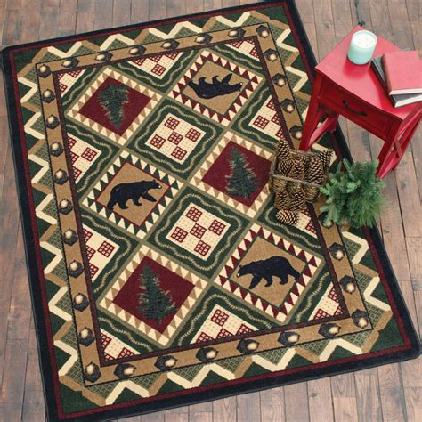 woodland rug quilted forest woodland rug 5 x 8