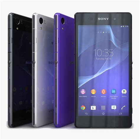 format video xperia z2 3d model sony xperia z2 color
