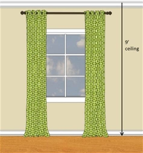 how high to hang curtains 9 foot ceiling window treatments