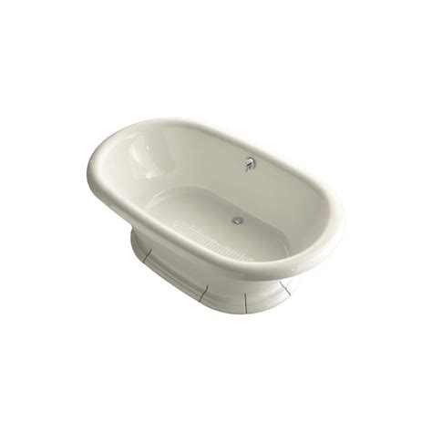 kohler vintage bathtub kohler vintage 6 ft porcelain enameled flat bottom center