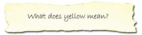 what color does yellow represent faq rosie com