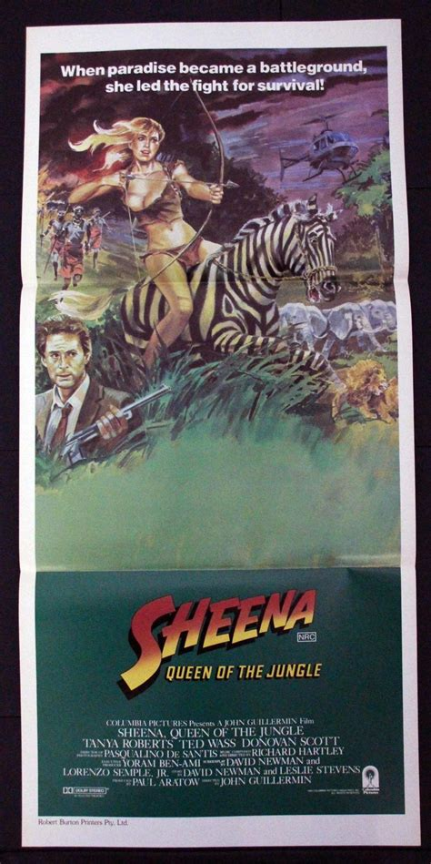 hindi film jungle queen sheena queen of the jungle 1984 daybill movie poster