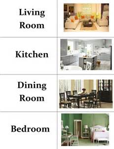Rooms In A House Rooms In A House Vocabulary Sort Cards Lesson Plan