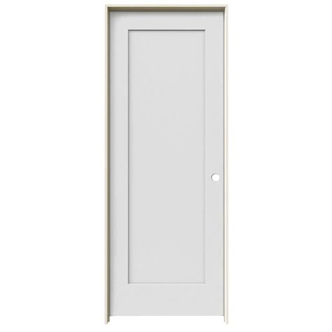 Single Panel Interior Doors White Jeld Wen 24 In X 80 In Molded Primed White 1 Panel Flat Hollow Composite Single Prehung