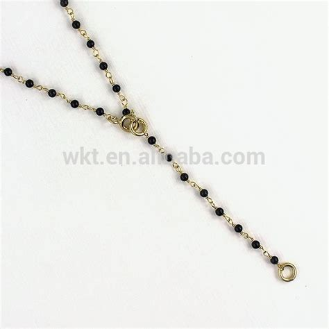 Kalung Rosario Permata hitam batu permata kalung spinel hitam kalung gaya