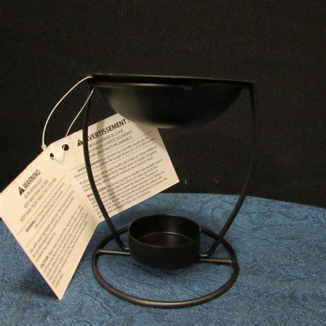 tea light tart warmer luminessence tea light black iron tart burner oil wax