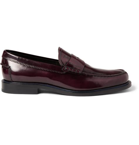 tods loafers lyst tod s polished leather loafers in for